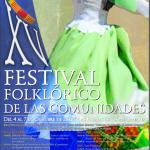 Cartel XV Festival Folklórico de Las Comunidades